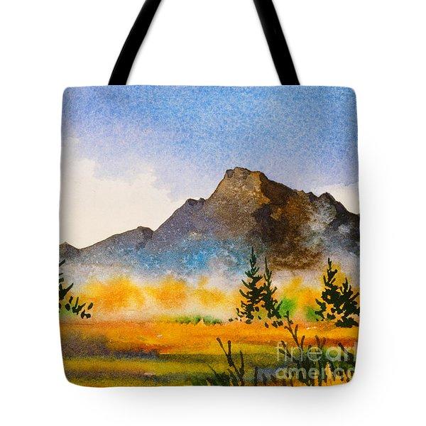 Tote Bag featuring the painting Matanuska Autumn by Teresa Ascone