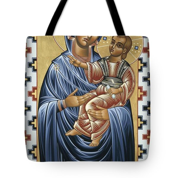Tote Bag featuring the painting Mater Domini 070 by William Hart McNichols