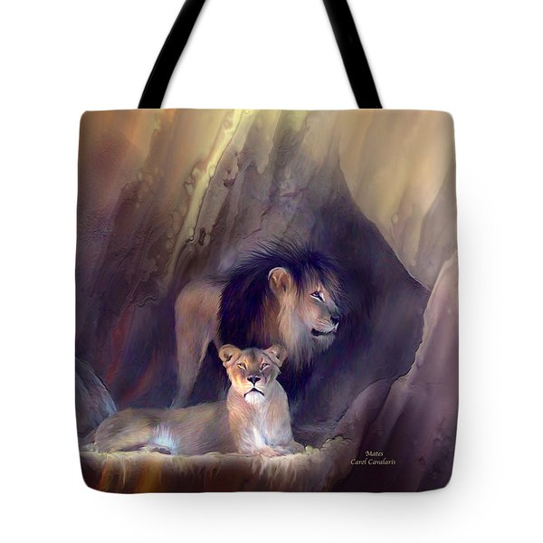 Mates Tote Bag by Carol Cavalaris