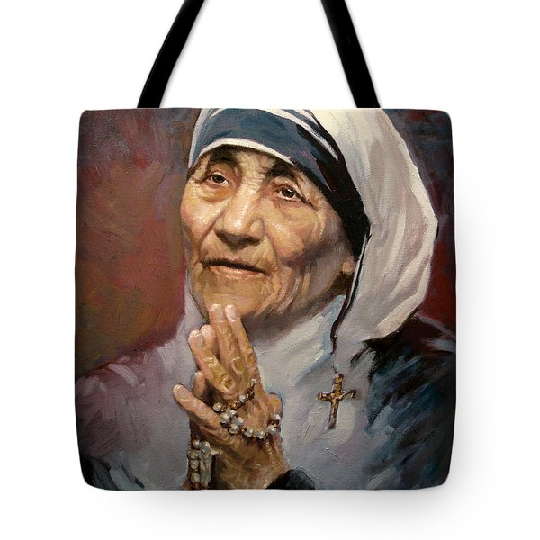 Mather Teresa Tote Bag by Ylli Haruni