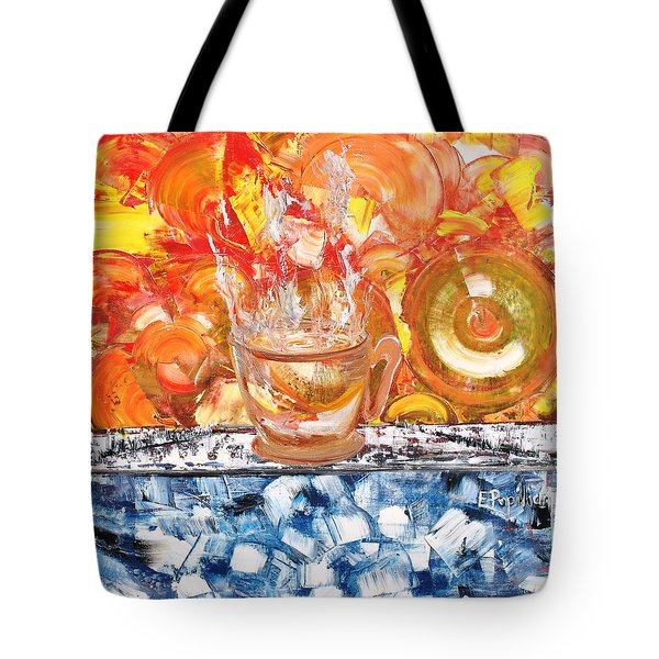 Tote Bag featuring the painting Matinal by Evelina Popilian