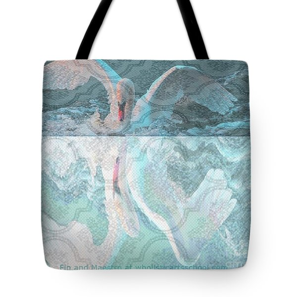 Mating Dance Of The Swan Tote Bag by PainterArtist FIN
