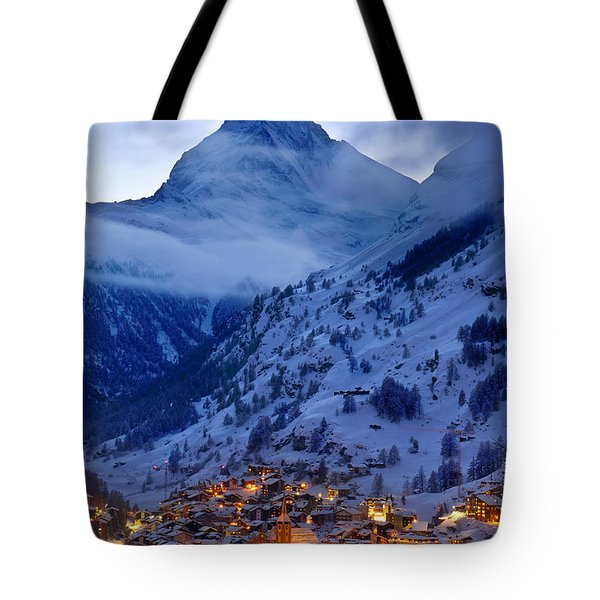 Matterhorn At Twilight Tote Bag