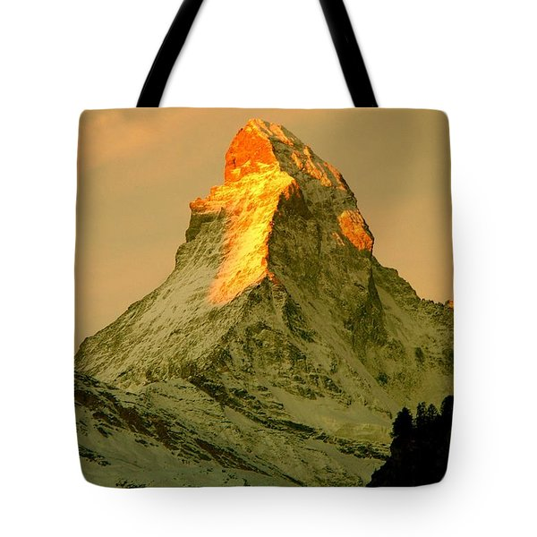 Matterhorn In Switzerland Tote Bag