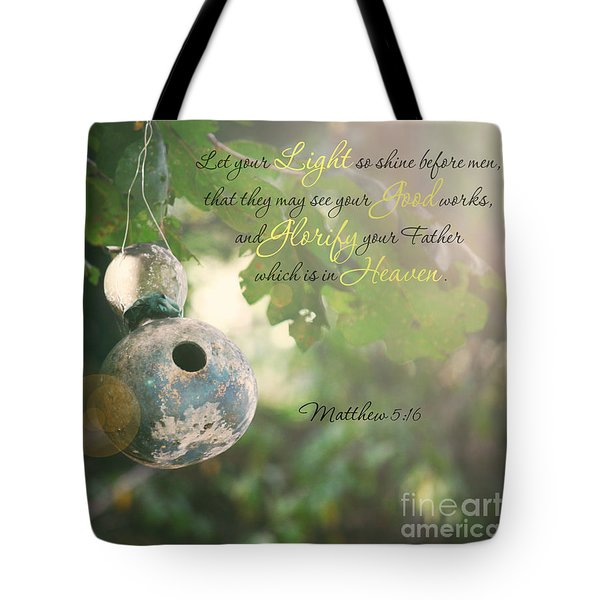 Matthew Verse Tote Bag by Lena Auxier