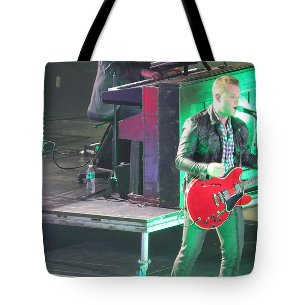 Tote Bag featuring the photograph Matthew West At Winterjam by Aaron Martens