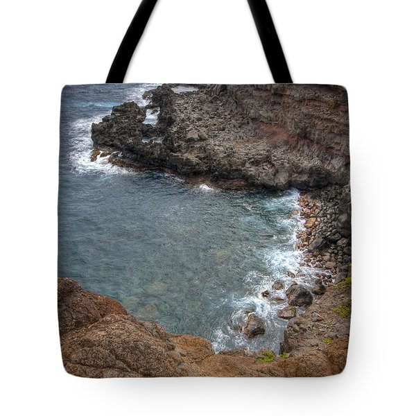 Tote Bag featuring the photograph Maui Cliff by Bryan Keil