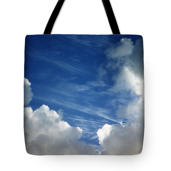 Tote Bag featuring the photograph Maui Clouds by Evelyn Tambour