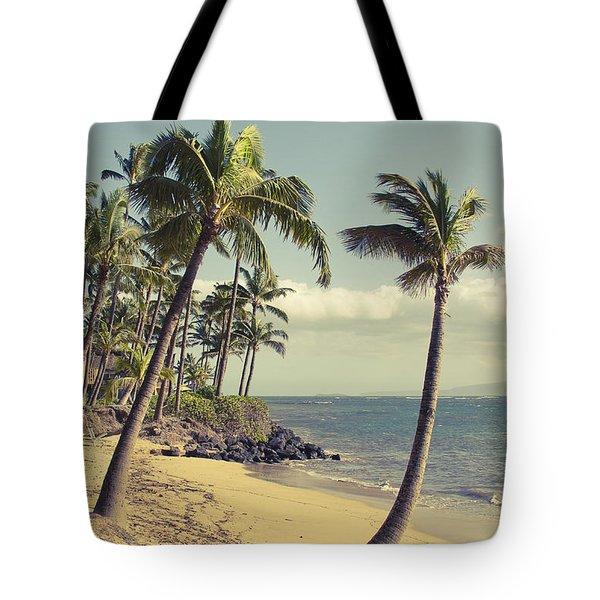 Tote Bag featuring the photograph Maui Lu Beach Hawaii by Sharon Mau