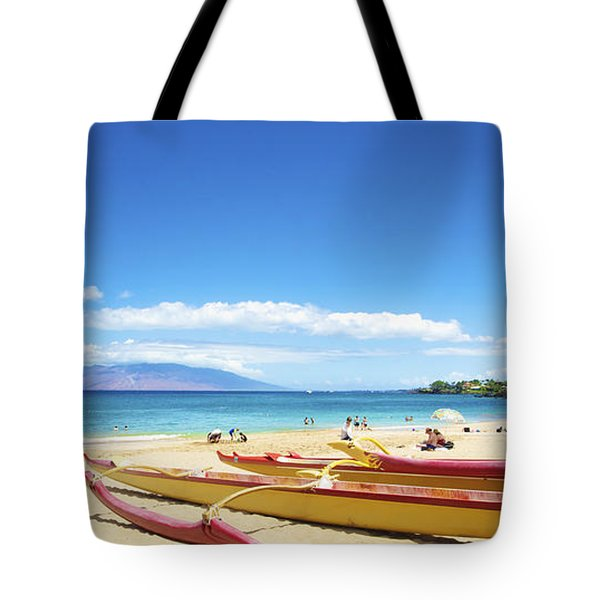 Maui Outriggers Tote Bag by Kicka Witte