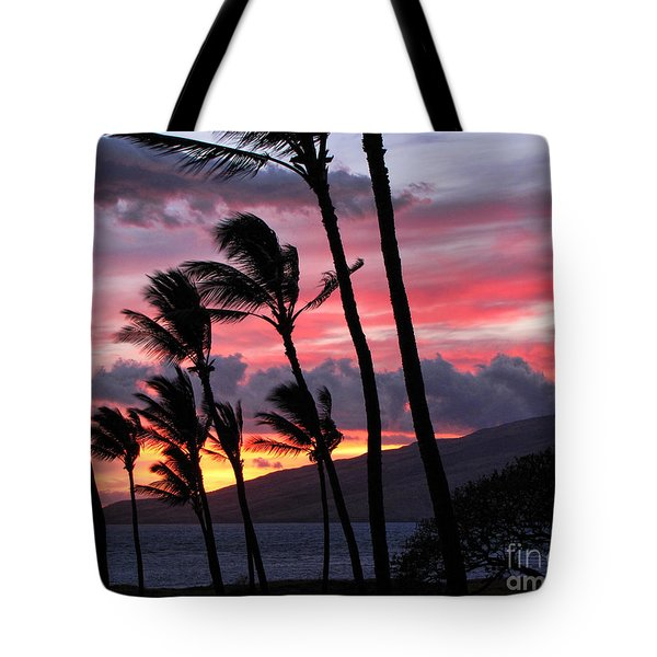 Maui Sunset Tote Bag by Peggy Hughes