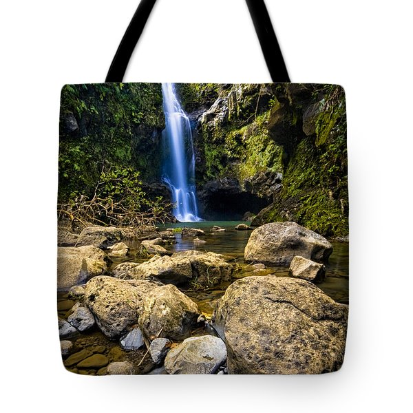 Maui Waterfall Tote Bag by Adam Romanowicz