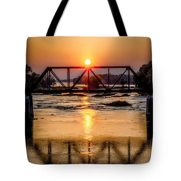 Maumee River At Grand Rapids Ohio Tote Bag