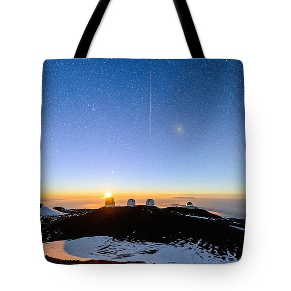 Mauna Kea Moonset 1 Tote Bag
