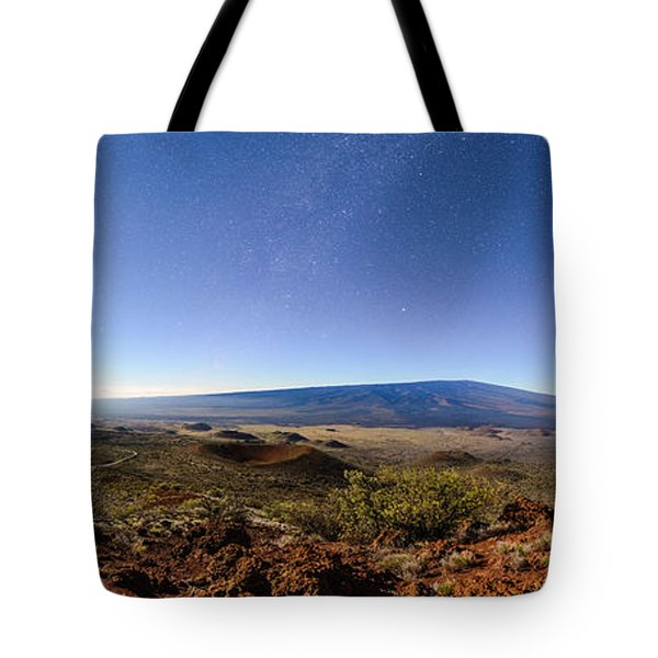 Mauna Loa Moonlight Panorama Tote Bag