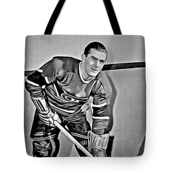 Maurice Richard Tote Bag by Florian Rodarte
