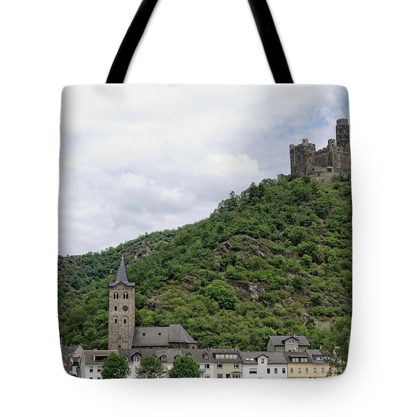 Maus Castle In Germany Tote Bag by Oscar Gutierrez