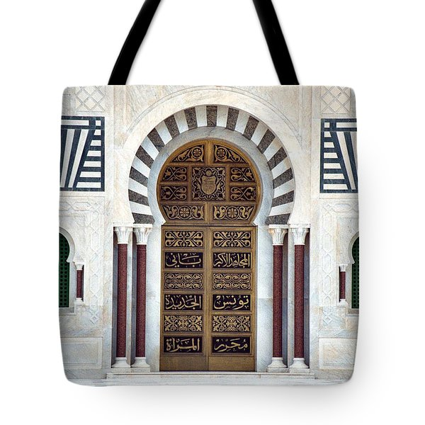 Mausoleum Doors Tote Bag