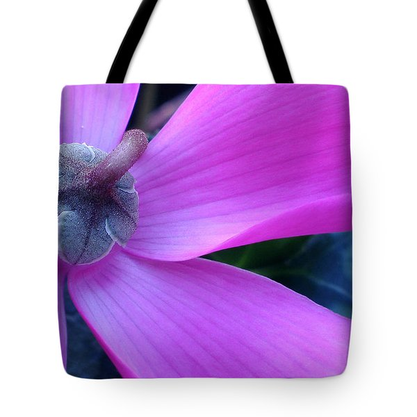 Mauve Cyclamen Tote Bag by Kaye Menner