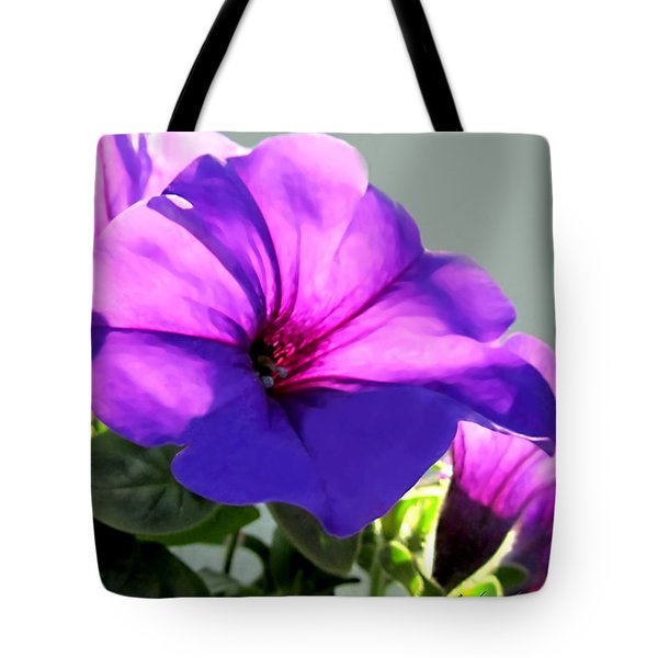 Mauve Petunia Trio Tote Bag by Danielle  Parent