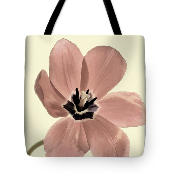 Mauve Tulip Transparency Tote Bag