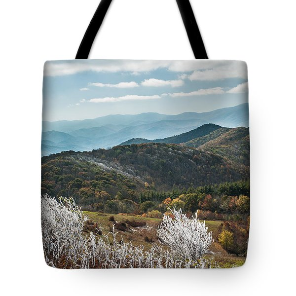 Tote Bag featuring the photograph Max Patch In Appalachian Mountains by Debbie Green