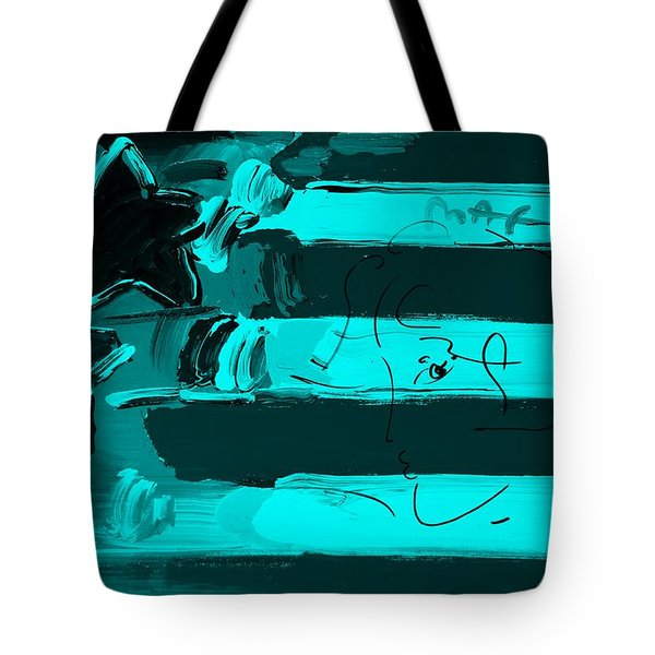 Max Stars And Stripes In Turquois Tote Bag by Rob Hans