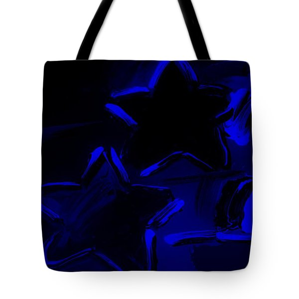 Max Two Stars In Blue Tote Bag by Rob Hans