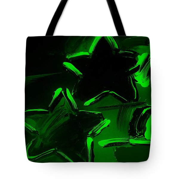 Max Two Stars In Green Tote Bag by Rob Hans