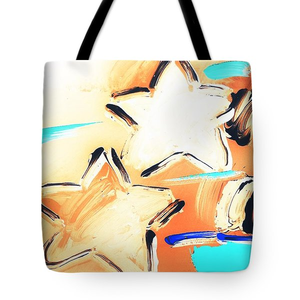 Max Two Stars In Inverted Colors Tote Bag by Rob Hans