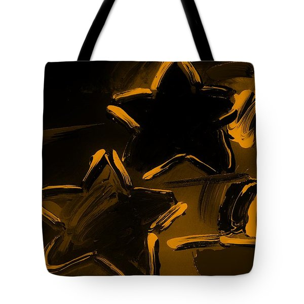 Max Two Stars In Orange Tote Bag by Rob Hans