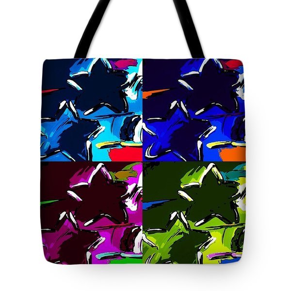 Max Two Stars In Pf Quad Colors Tote Bag by Rob Hans