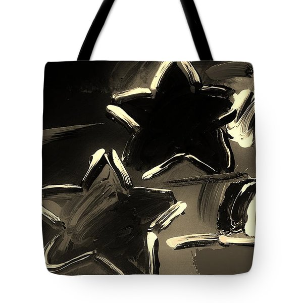 Max Two Stars In Sepia Tote Bag by Rob Hans