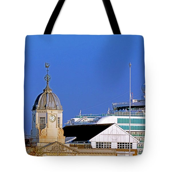 Maxims Casino Town Quay And Ventura Tote Bag by Terri Waters