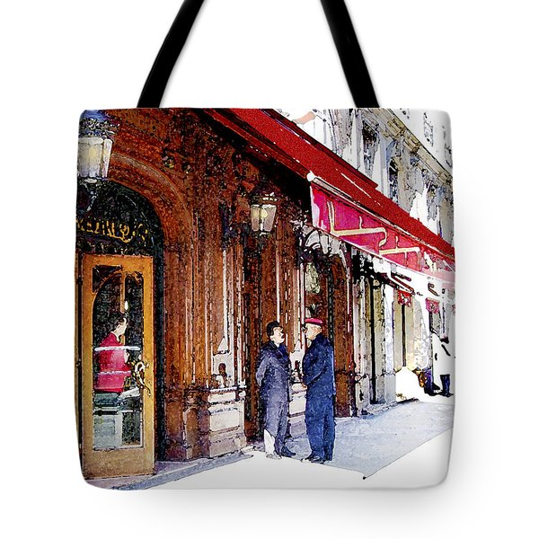 Tote Bag featuring the digital art Maxim's by Victoria Harrington