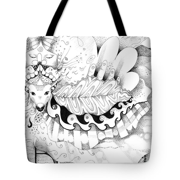 May Love With Wisdom Prevail Tote Bag by Helena Tiainen