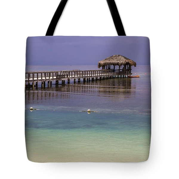 Maya Key Pier At Roatan Tote Bag