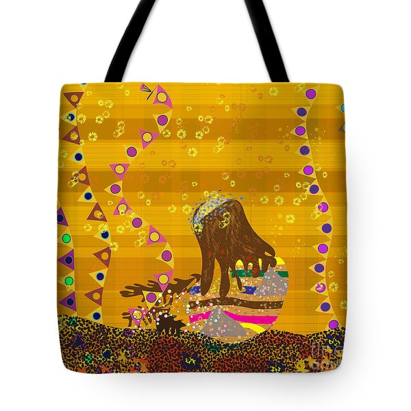 Tote Bag featuring the digital art Maya Prays by Kim Prowse