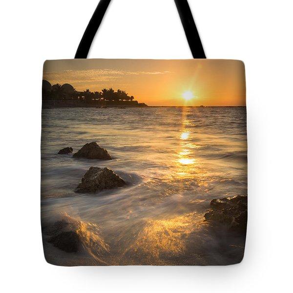 Mayan Coastal Sunrise Tote Bag by Adam Romanowicz