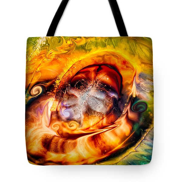 Mayan God Tote Bag by Omaste Witkowski