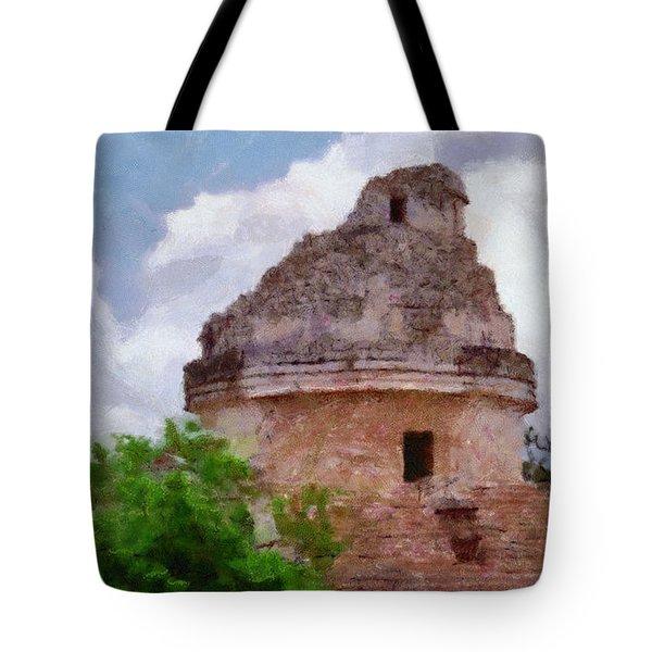 Mayan Observatory Tote Bag by Jeff Kolker