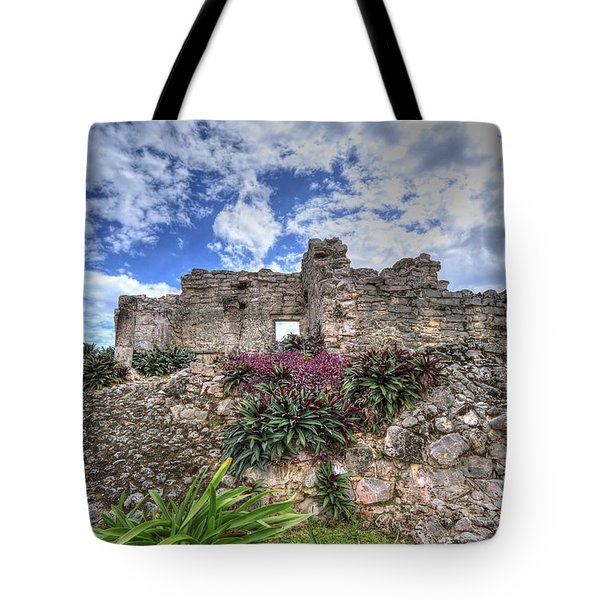 Tote Bag featuring the photograph Mayan Ruin At Tulum by Jaki Miller