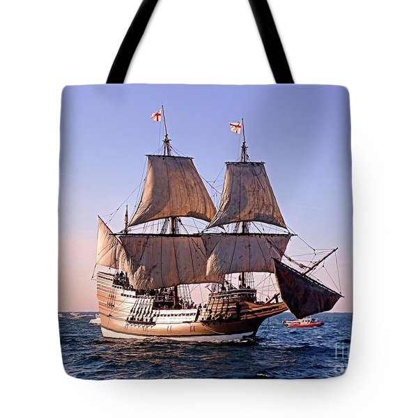 Mayflower II On Her 50th Anniversary Sail Tote Bag
