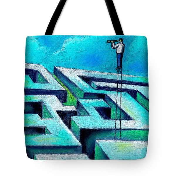 Maze Tote Bag by Leon Zernitsky