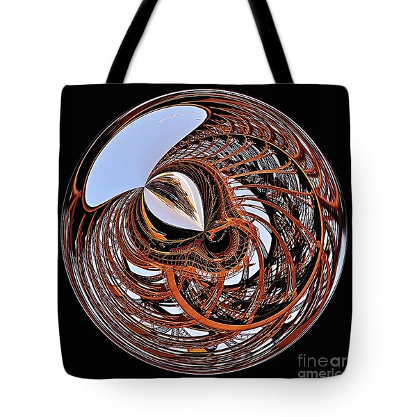 Maze Of Steel Tote Bag by Kaye Menner