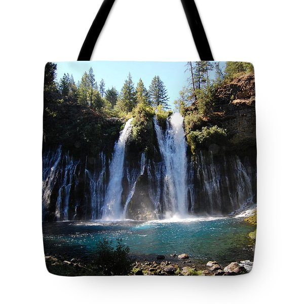 Tote Bag featuring the photograph Mcarthur-burney Falls 2 by Debra Thompson