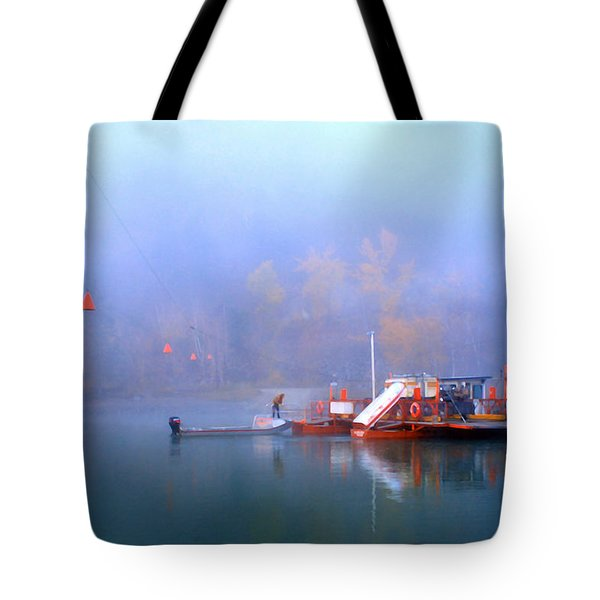 Mcclure Ferry Tote Bag by Theresa Tahara