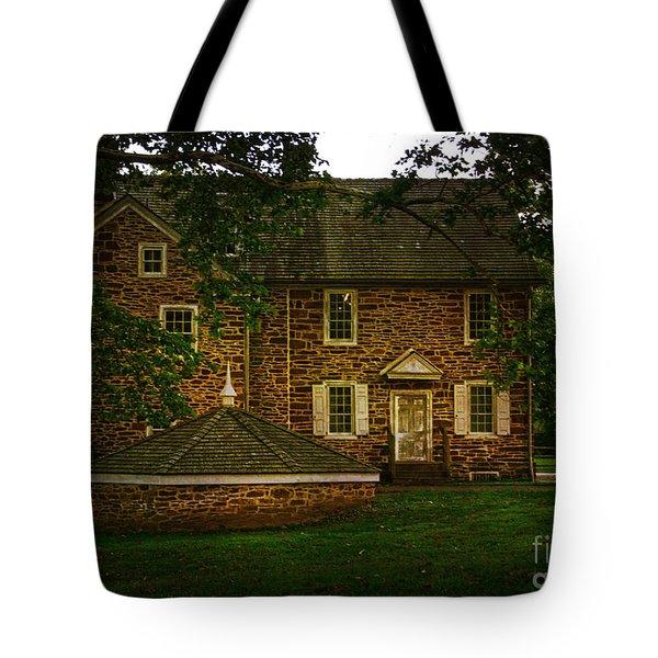 Tote Bag featuring the photograph Mcconkey's Ferry Inn by Debra Fedchin