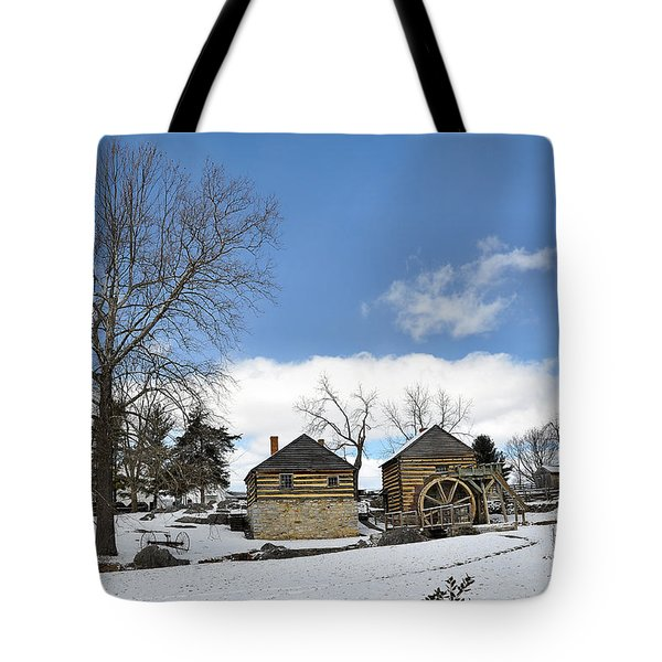 Mccormick Farm In Winter Tote Bag by Todd Hostetter