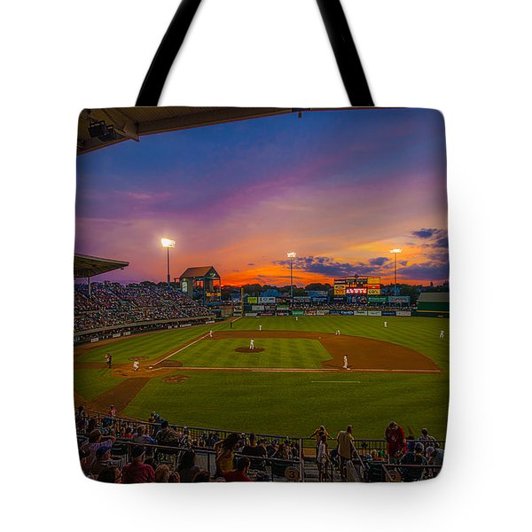 Mccoy Stadium Sunset Tote Bag